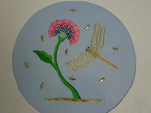 Picture showing embroidery